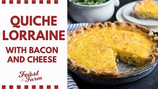 Quiche Lorraine with Bacon and Cheese