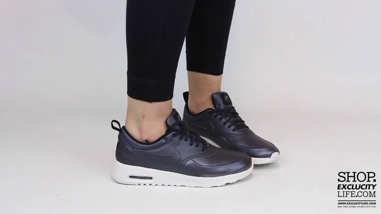 Women s Air Max Thea Metallic Navy On feet Video at Exclucity - YouTube 7533a0aeddbf