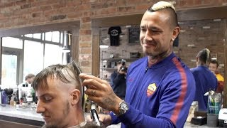 Radja Nainggolan Barbershop Challenge