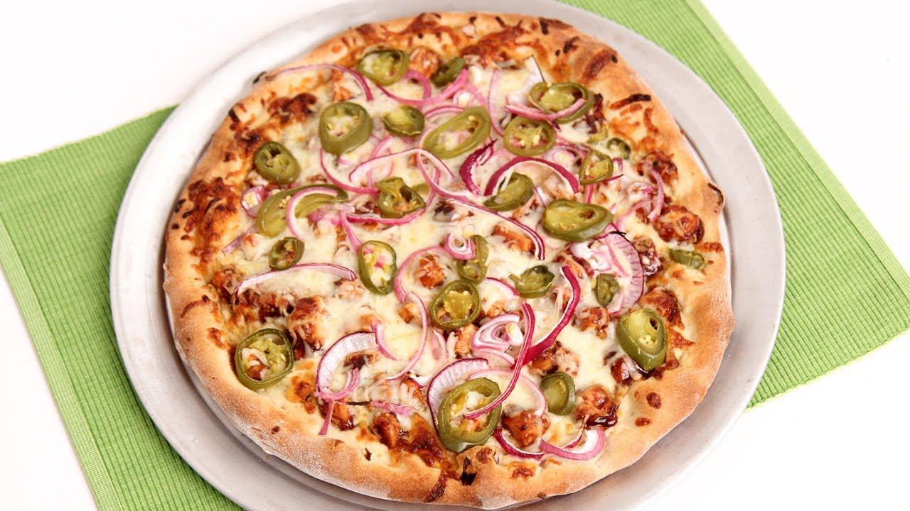 bbq chicken pizza recipe - laura vitale - laura in the kitchen