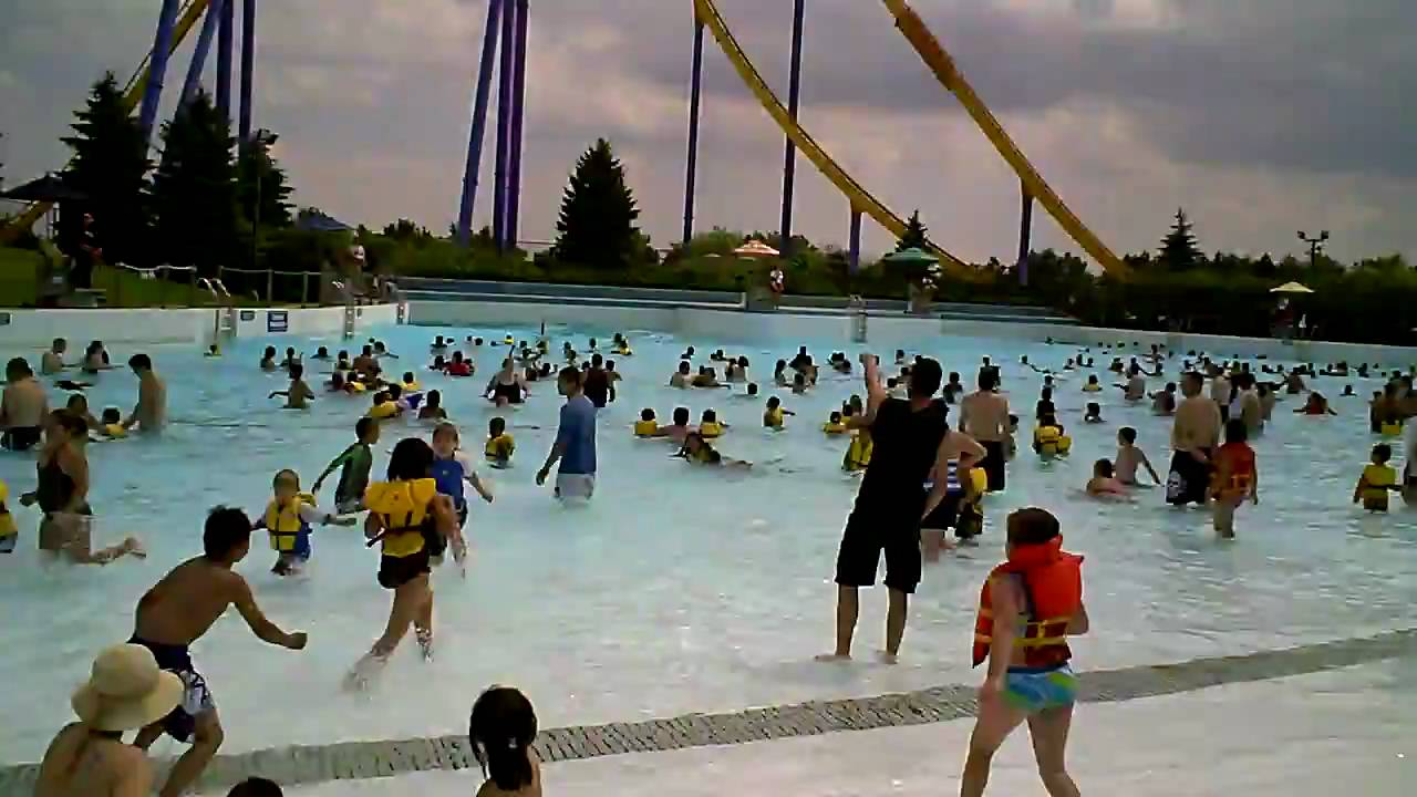 Water pool at canada 39 s wonderland youtube for Pool show toronto