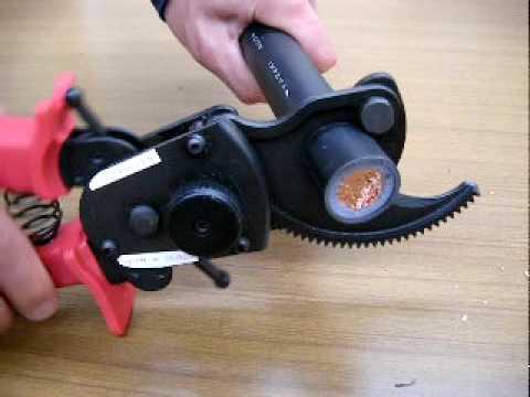 Ratchet Cable Cutter RCC-32B By Kobayashi Tool Mfg.Co.,Ltd. - YouTube