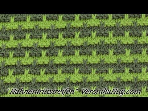 Stricken Hebemaschenmuster Hahnentrittstreifen Veronika Hug