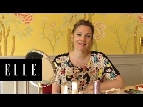 Drew Barrymore - How to Apply Makeup with Fingers | ELLE