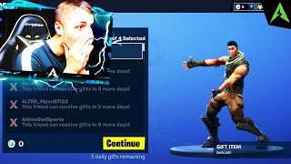 * GIFTING * system appears in Fortnite..