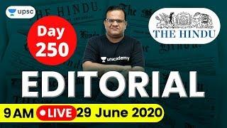 UPSC CSE 2020 | The Hindu Editorial Analysis for IAS Preparation by Ashirwad Sir | 29 June 2020