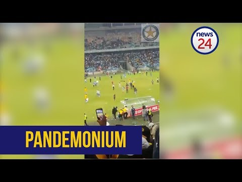 WATCH: Chaos erupts at Moses Mabhida Stadium as fans exchange blows