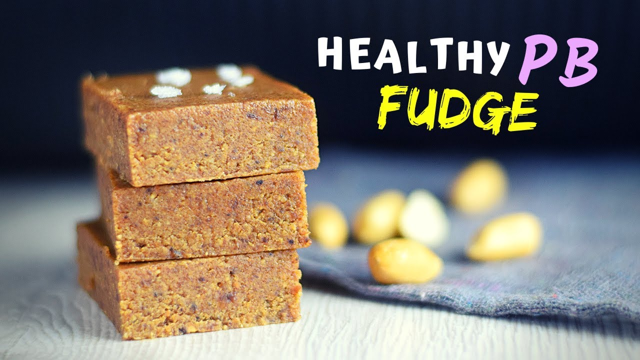 I made PEANUT BUTTER FUDGE that is actually healthier for you (without tons of sugar!)