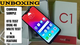 Realme C1 Unboxing, camera sample,OTG & dual 4G volte test