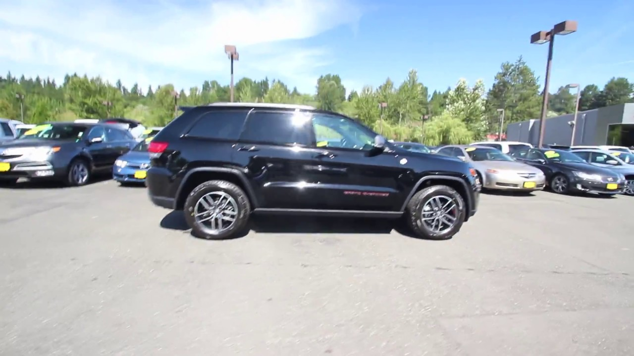 2018 jeep grand cherokee trailhawk 4x4 diamond black crystal jc104400 redmond seattle. Black Bedroom Furniture Sets. Home Design Ideas