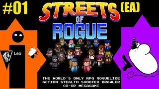 Let's Play Streets of Rogue (EA) coop with Mousegunner #01