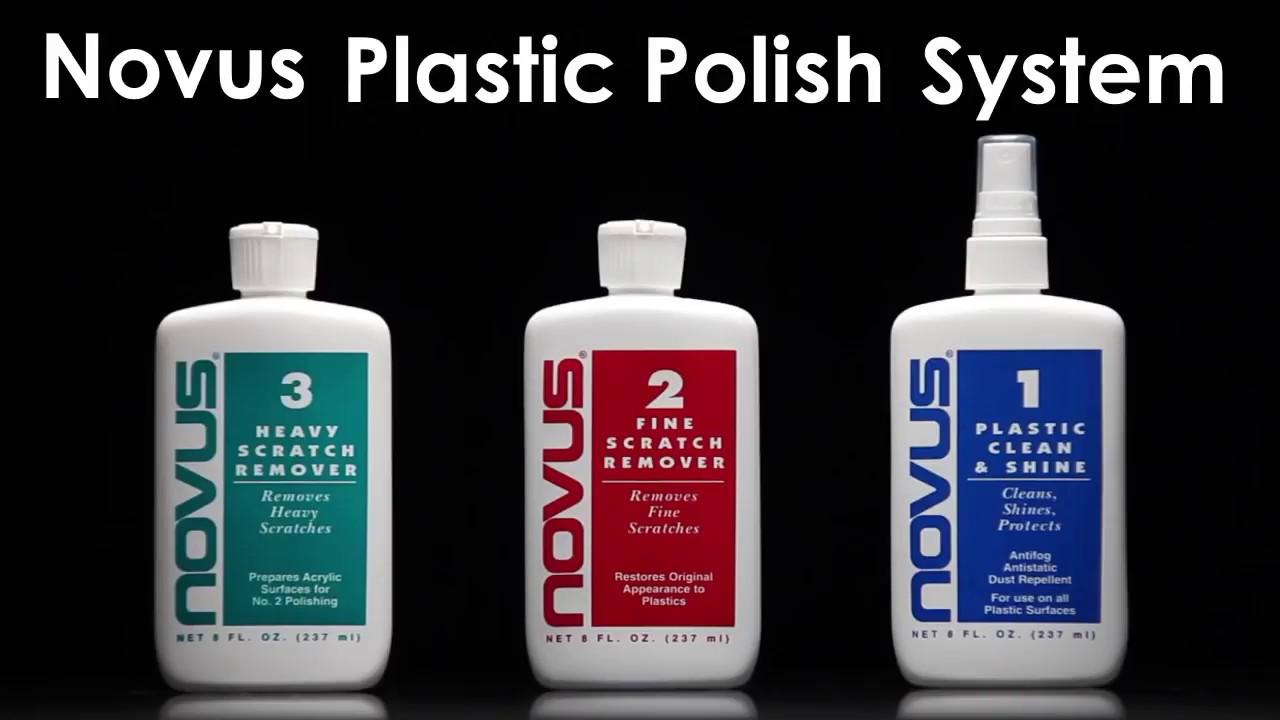 Novus Plastic Polish Scratch Remover Clean Remove