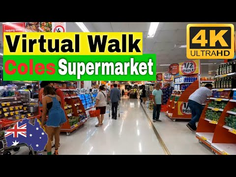 Walk Inside Coles Supermarket | 4K Tour | Visit Sydney Australia | Virtual Travel