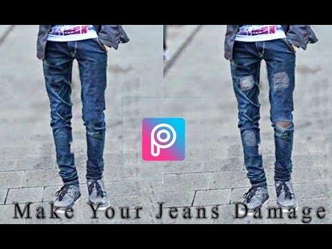 64446f90 Picsart Editing Convert Your Simple Jeans To Damage Jeans |Picsart Tutorial