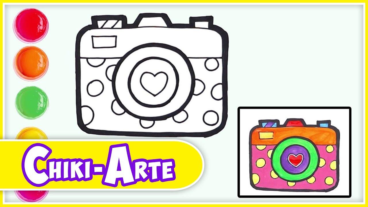 Cómo Dibujar Una Cámara De Fotos Dibujos Infantiles Chiki Arte Aprende A Dibujar Youtube