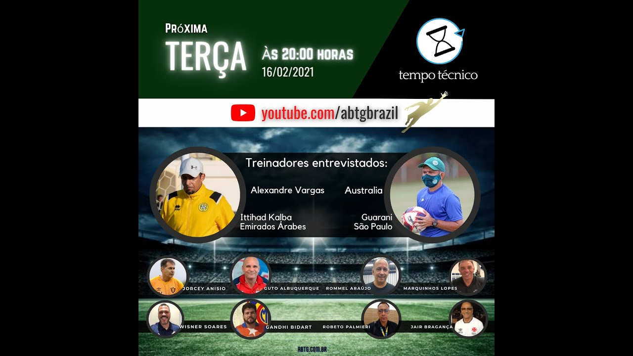 TEMPO TÉCNICO entrevista os Treinadores de Goleiros Alexandre Vargas e Silvano Austrália.
