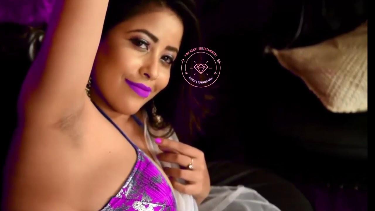Download White Saree & purple Bras Hot In Door Photo shoot _ Tanushree #Pink_Heart_Entertainment # Episode 41