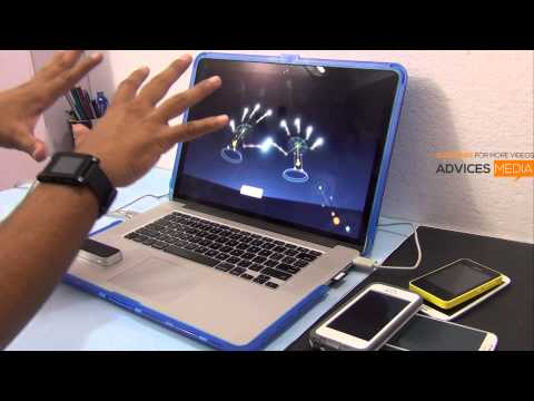 LEAP Motion Controller Orientation Demo Video - Finger Tracking & Painting Feature