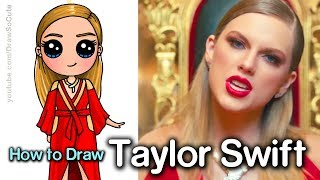 Taylor Swift Drawing | Look What You Made Me Do Music Video