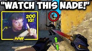 S1MPLE CALCULATED THE PERFECT NADE! SCOUT IS OP? CS:GO Twitch Clips