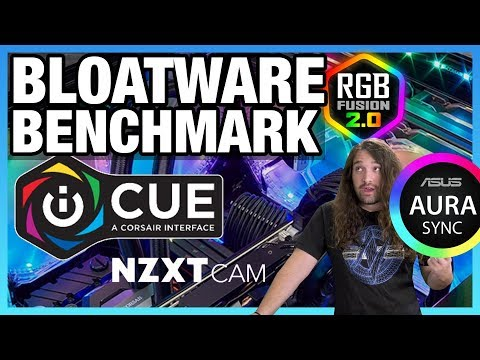 Bloatware Benchmark: RGB Software Vs. Performance (iCUE, CAM, & More)