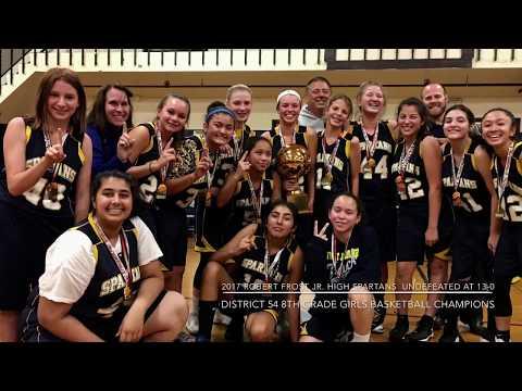 Robert Frost Jr. High School Spartans 8th Grade Girls Basketball Team - 2017 Season