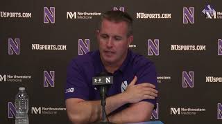 Football - Iowa Week Pat Fitzgerald Press Conference (10/16/17)