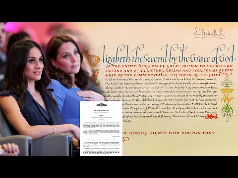 Queen's consent letters for Meghan & Kate  How difference from the 'Instrument of Consent'