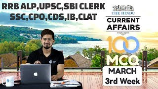 100 MCQ Current Affairs March 3rd Week By Kush ...