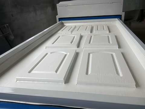 PVC Foil Vacuum Press Machine For Door Kitchen Cabinet Door Coating