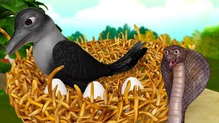 Bengali Kids Stories - The Snake and the Crow   Infobells