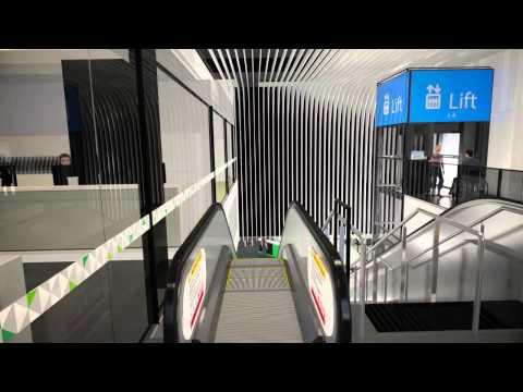 Perth City Link Bus: Underground Perth Busport walkthrough