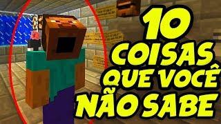 10 EASTER EGGS E COMANDOS SEGREDOS DO MINECRAFT QUE VOCE NÃO SABE   Part 3