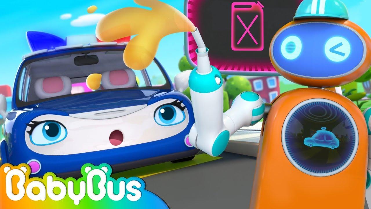 Police Car, Ambulance and Fire Truck Run out of Gas   Kids Cartoon   Nursery Rhyme   BabyBus