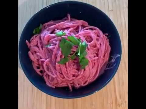 Recipe Beetroot Pasta Justin Robbie Holt Youtube