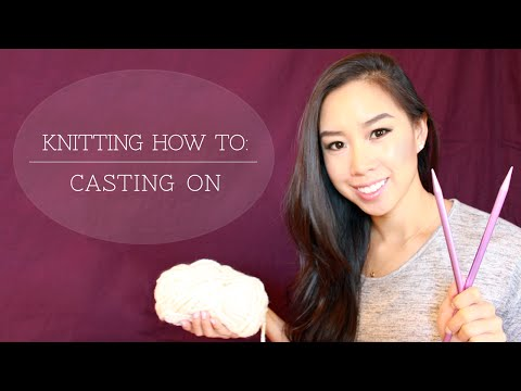 How To Cast On Knitting Stitches For Dummies : Knitting 101 : How to Cast On for Beginners [2 of 7] Doovi
