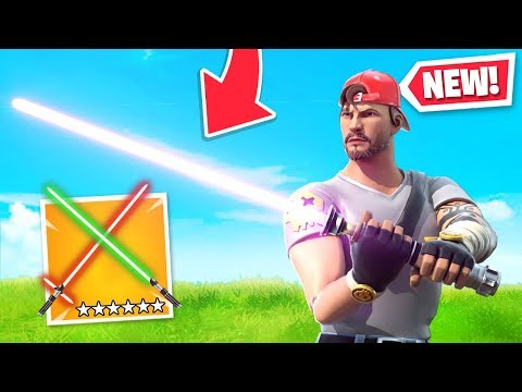 *NEW* LIGHTSABERS Added To Fortnite! (Star Wars UPDATE)