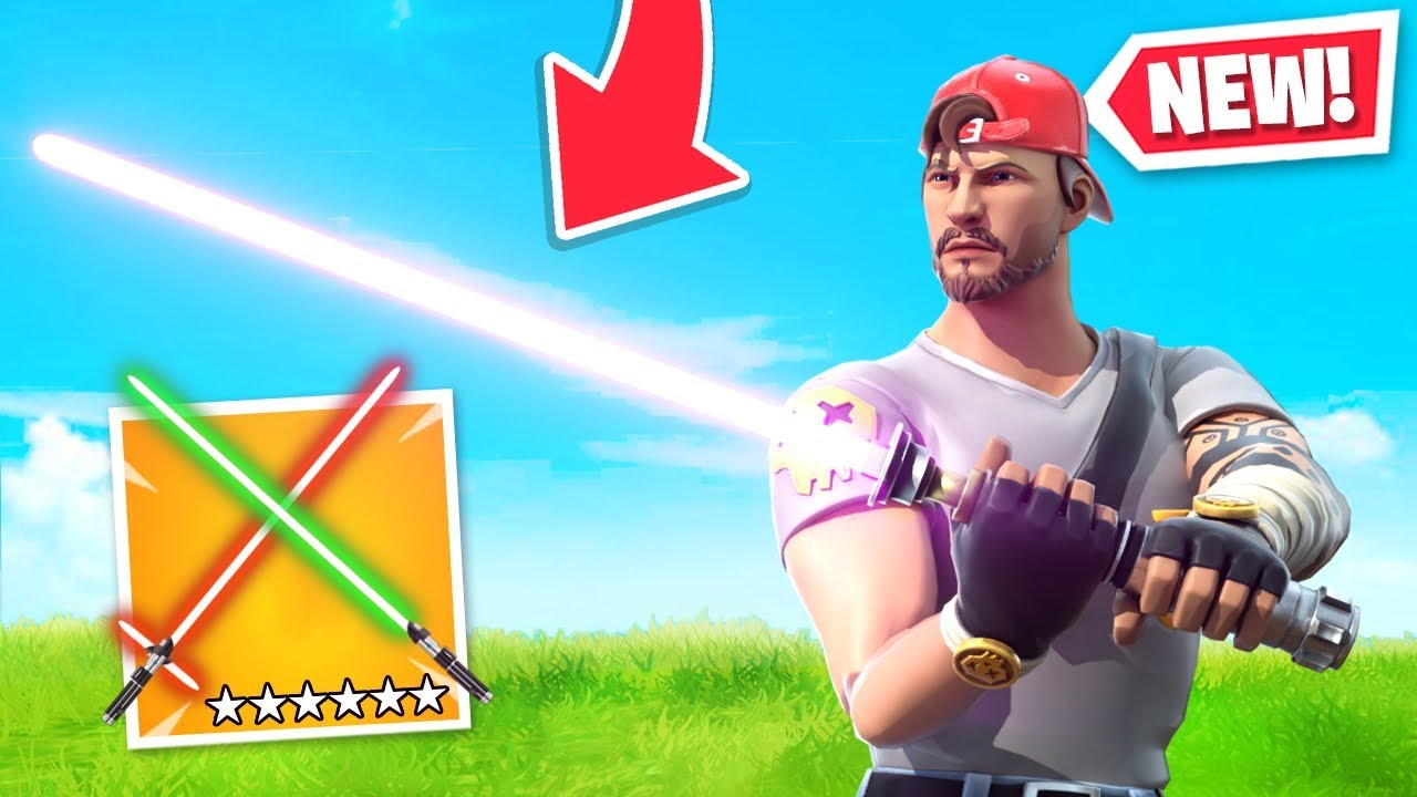 *NEW* LIGHTSABERS added to Fortnite! (Star Wars UPDATE ...