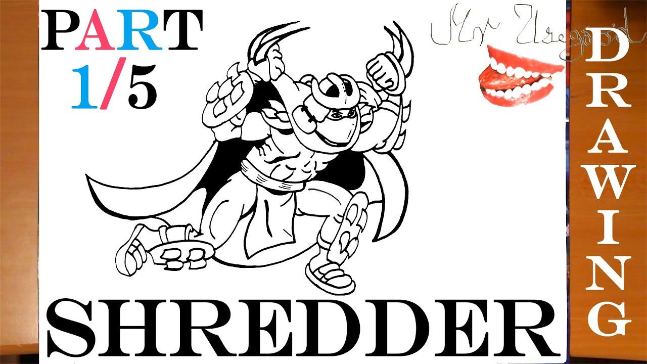 How to Draw SHREDDER - Teenage Mutant Ninja Turtles Step by Step ...