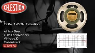 Celestion Speaker Comparison  Alnico blue G12H Vintage30 Greenback