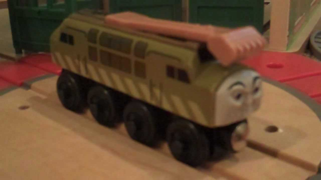 Thomas wooden railway discussion: Diesel 10 awesome! - YouTube