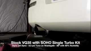 soho 350z single turbo 8psi exhaust stock vq