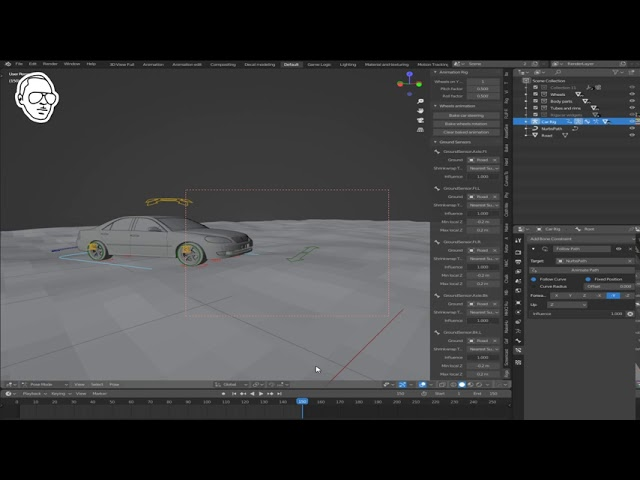 Part 2 How to animate a car in 2 minutes in Blender 2.9