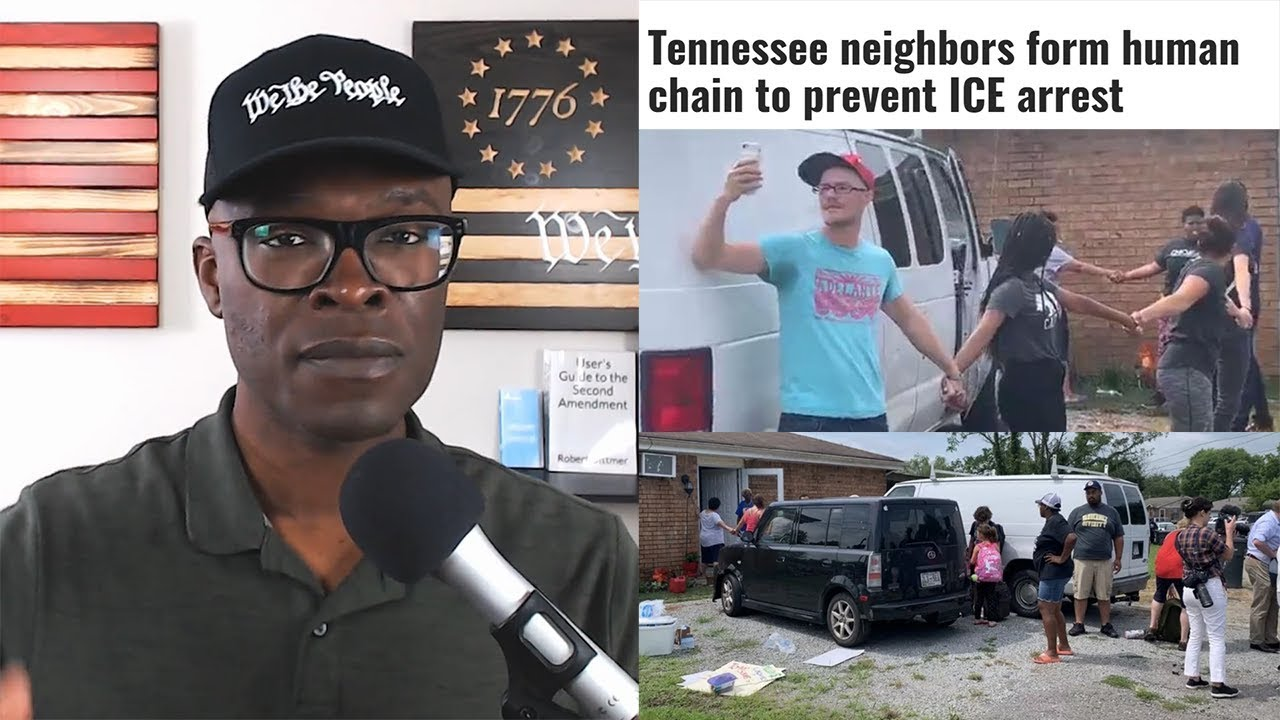Anthony Brian Logan Nashville Neighbors Form HUMAN CHAIN To Prevent ICE Arrest