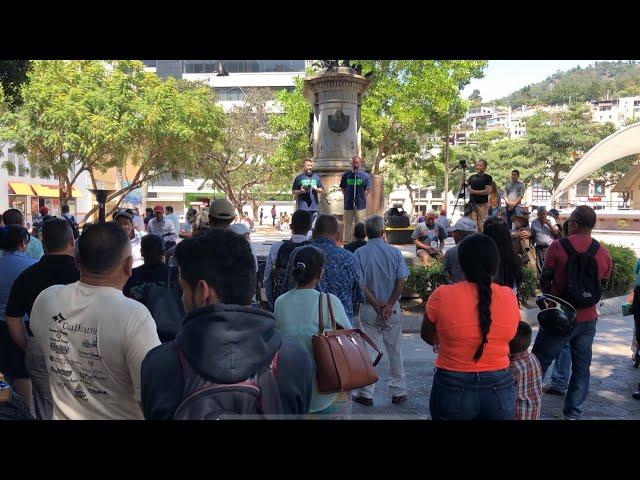 Amazing move of God in Central Park, Tegucigalpa, Honduras