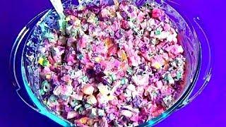 """Салат со свеклой """"Ленивая шуба"""". 30 минут и целый тазик вкусного салата"""