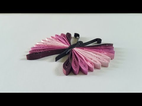 A Beautiful Quilling Butterfly Handmade | How To Make | creative craft art