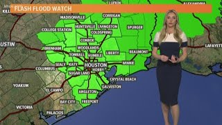 Houston Forecast: Flash Flood Watch in effect Wednesday morning for several counties