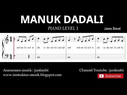 Not Balok Manuk Dadali - Piano Level 1 - Lagu Daerah Jawa Barat / Sunda - Doremifasol