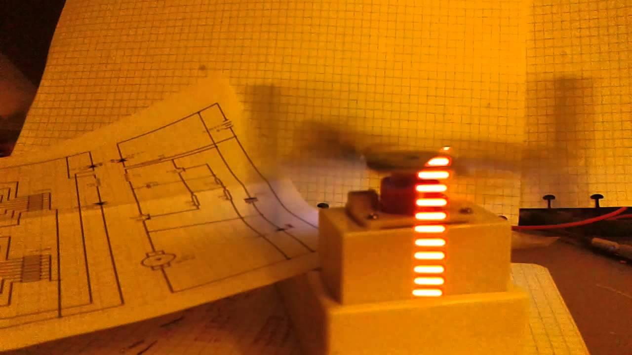 Cross Led Dot Matrix Display Circuit Board Rotating Electronic Kit 2